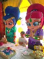 Shimmer e shine cover personagens vivos